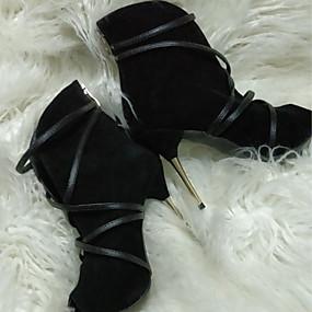 billige Mote Boots-Dame Støvler Stiletthæl Titte Tå Nubuck Skinn Ankelstøvler Komfort / Original Vår / Høst Svart / Beige / Blå
