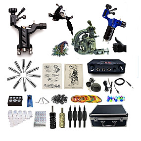 cheap Professional Tattoo Kits-BaseKey Professional Tattoo Kit Tattoo Machine - 4 pcs Tattoo Machines, Professional Aluminum Alloy 20 W 2 rotary machine liner & shader / 2 alloy machine liner & shader / Case Included