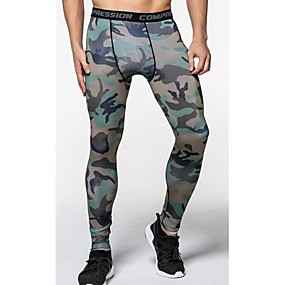 cheap Running & Jogging-JACK CORDEE Men's Running Tights Leggings Compression Pants Sports & Outdoor Pants / Trousers Base Layer Compression Clothing Spandex Winter Fitness Gym Workout Exercise Lightweight Fast Dry Anatomic