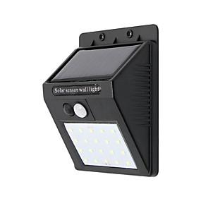 preiswerte Außenwandleuchten-1pc 10 W Wandleuchte Wasserfest / Solar Kühles Weiß 3.7 V Außenbeleuchtung 20 LED-Perlen