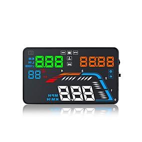 preiswerte Frontscheiben-Anzeigen-Q700 5,6-Zoll-LED-Head-up-Display LED-Anzeige Multifunktions-Display Plug-and-Play für LKW-Bus Auto-Anzeige km / h MPH Fahrgeschwindigkeit