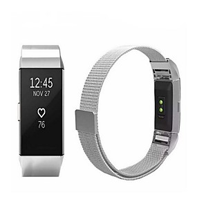 cheap Phones & Accessories-Watch Band for Fitbit Charge 2 Fitbit Sport Band / Milanese Loop Stainless Steel Wrist Strap