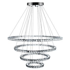 preiswerte Top Seller-Kreisförmig Kronleuchter Raumbeleuchtung Galvanisierung Metall Kristall, Abblendbar, LED 110-120V / 220-240V Dimmbar mit Fernbedienung