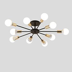 levne Stropní světla a větráky-10-hlava vintage kovu semi-flush mount stropní světlo obývací pokoj jídelna osvětlení malovaný povrch