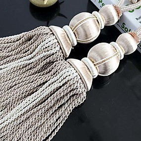 cheap Curtains & Drapes-curtain Accessories Tassel / Tie Back Modern 2pcs