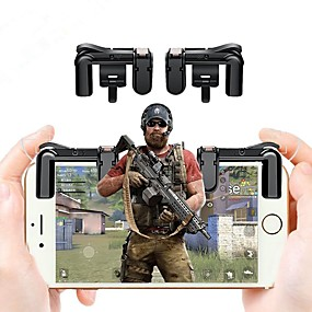 preiswerte Handys & Elektronik-2pcs Handy-Gaming-Trigger l1r1 Shooter-Controller für Pubg Knives Out-Regeln des Überlebens-Controller-Shooter-Feuerknopf