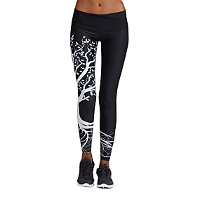 cheap Running & Jogging-Women's Running Tights Leggings Tights Leggings Bottoms Yoga Fitness Gym Workout Running Jogging Fast Dry Breathability Sport White Black / High Elasticity