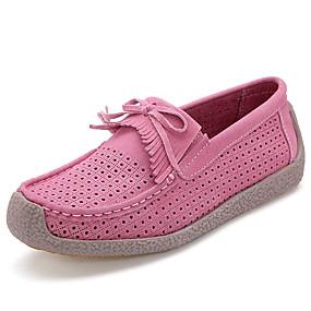 preiswerte Bequeme Halbschuhe-Damen Loafers & Slip-Ons Flacher Absatz Quaste Wildleder Komfort / Mokassin Frühling Sommer Rot / Blau / Rosa / Alltag