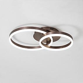 povoljno Lámpatestek-nordijski stropno svjetlo vodeno 50/40 dva kruga akrilno moderno unutarnje svjetlo za dnevni boravak spavaće sobe