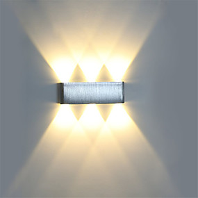 cheap Fill Your Needs-Modern 6W LED Wall Sconce Light Fixture Indoor Hallway Wall Lamp Aluminum Decorative Lighting LED Integrated  Vanity Light