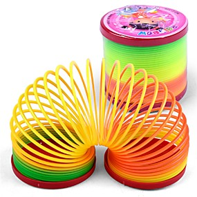 cheap Activity Toys-Coiled Spring Toy Stress Reliever Stress and Anxiety Relief 1 pcs Children's All Boys' Girls' Toy Gift