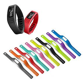 baratos Acessórios para Smartwatch-Pulseira de relógio de substituição de pulseira de silicone para garmin vivofit 1 / vivofit 2 pulseira cinto