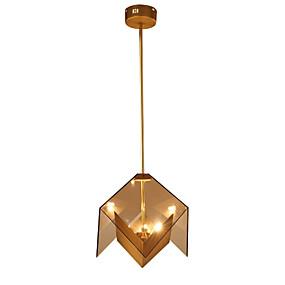 povoljno Viseća rasvjeta-LightMyself™ 3-Light Geometrijski oblici Privjesak Svjetla Ambient Light Golden Metal Glass 110-120V / 220-240V Bulb Included / G9