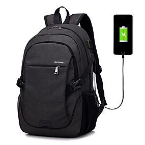 """preiswerte Computer & Büro-LITBest 15 """"Laptop Rucksäcke Terylen Solide für Geschäftsstelle für Kollegen & Schulen zum Reisen mit USB-Ladeanschluss / Kopfhörerloch"""