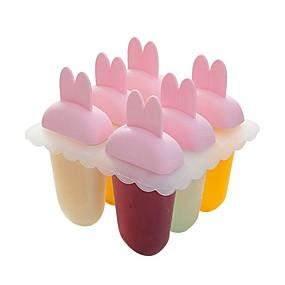 preiswerte Eis Geräte-6pcs Kunststoff bezaubernd Kreativ Für Eiscreme Tier Dessert-Werkzeuge Backwerkzeuge