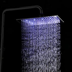 halpa Suihkupäät-Antiikki Sadesuihku Antiikkipronssi Ominaisuus - Sadesuihku / LED, Suihkupää