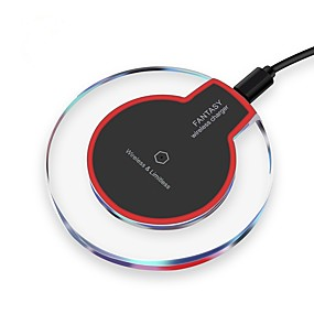 cheap Cellphone Accessories-Wireless Charger USB Charger with Cable Qi Wireless Mobile Device Phone Charging Pad for iPhone X / XR / XS Max / iPhone 8 Plus / Samsung S9 S10