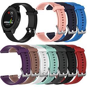 baratos Acessórios para Smartwatch-Pulseiras de Relógio para vivomove / vivomove HR / Vivoactive 3 Garmin Pulseira Esportiva Silicone Tira de Pulso