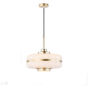 povoljno Viseća rasvjeta-QIHengZhaoMing Bubanj Privjesak Svjetla Ambient Light Electroplated Metal Glass 110-120V / 220-240V Meleg fehér Bulb Included