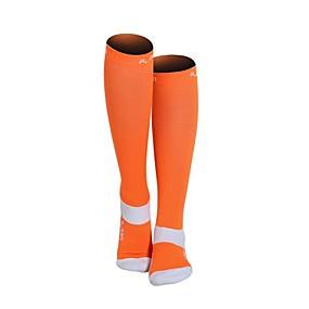 preiswerte Sports & Outdoors-Nylon Herrn Damen Solide Kompressionssocken Lange Socken Rutschfest tragbar Nicht gleiten Sport & Natur 1 Paar