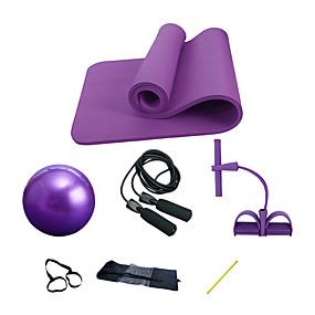 levne Pilates-Míč na cvičení / Míč na jógu Podložka na jógu Uže za skakanje Odporová guma / válec na cvičení Přírodní kaučuk Silové cvičení Fyzikální terapie Posilovací cvičení Jóga Pilates Fitness Pro Dámské