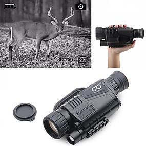 preiswerte Leisure-5 X 40 mm Nachtsicht-Monokular Infrarot Wiederaufladbar Bild- und Videofunktion aufzeichnen Tragbar Volle Mehrfachbeschichtung BAK4 Jagd Klettern Militär / Vogelbeobachtung