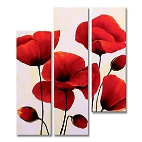 povoljno Slike za cvjetnim/biljnim motivima-Hang oslikana uljanim bojama Ručno oslikana - Sažetak Cvjetni / Botanički Comtemporary Moderna Uključi Unutarnji okvir / Pet ploha / Prošireni platno