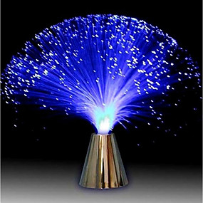 cheap Décor & Night Lights-Multicolor LED Fiber Optic Lamp Light Holiday Wedding Centerpiece Optic Fiber LED Lighting Living Room Night Decoration