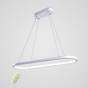povoljno Viseća rasvjeta-Linear Privjesak Svjetla Ambient Light Slikano završi Metal silika gel Bulb Included 110-120V / 220-240V Meleg fehér / Bijela / Zatamnjen daljinskim upravljačem