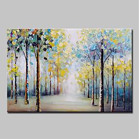 povoljno Slike za cvjetnim/biljnim motivima-Hang oslikana uljanim bojama Ručno oslikana - Sažetak Cvjetni / Botanički Vintage Tradicionalno Uključi Unutarnji okvir / Prošireni platno