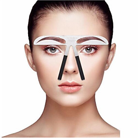 cheap Makeup Tools & Accessories-Eyebrow Stencil Professional Level Makeup 1 pcs Stainless Steel Eyebrow / Face Portable / Universal Cosmetic Grooming Supplies