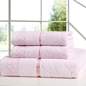 preiswerte Handtuch-Gehobene Qualität Badehandtuch / Handtuch, Solide Polyester / Baumwolle 3 pcs