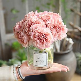 preiswerte Kunstblume-Künstliche Blumen 5 Ast Hochzeit Hochzeitsblumen Pfingstrosen Ewige Blumen Tisch-Blumen