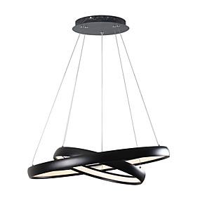cheap Ceiling Lights & Fans-1-Light LightMyself™ 60 cm Adjustable Chandelier Aluminum Silica gel Circle Brass Modern Contemporary 110-120V / 220-240V
