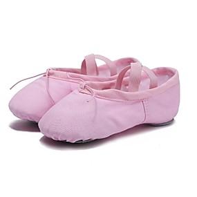 preiswerte Top Shoes & Bags-Damen Tanzschuhe Leinwand Balletschuhe Flach, Ballerina Maßgefertigter Absatz Maßfertigung Schwarz / Rot / Rosa / Praxis