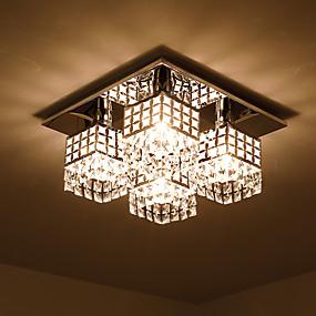 povoljno Lámpatestek-SL® Flush Svjetla Ambient Light Electroplated Metal Crystal 110-120V / 220-240V / E26 / E27