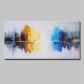 cheap Abstract Paintings-Mintura® Hand Painted Abstract Knife Landscape Oil Painting On Canvas Modern Wall Art Pictures For Home Decoration Ready To Hang With Stretched Frame