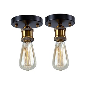 preiswerte Deckenlichter-2 Stück Vintage Loft Mini Metall Deckenleuchte flush Mount Flur Esszimmer Schlafzimmer Küche Antik Lampe