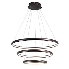 cheap Ceiling Lights & Fans-1-Light LightMyself™ 80 cm Adjustable Chandelier Aluminum Silica gel Circle Brass Modern Contemporary 110-120V / 220-240V