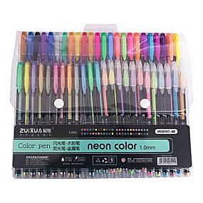 billige Hjemme Kontor-Gel Penn Penn Penn, Plastikker Flerfarvet blekk farger Til Skole materiell Kontorrekvisita Pakke med 48 pcs