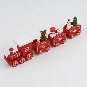preiswerte Spielzeug für Weihnachten-Weihnachtsdeko Weihnachts Geschenke Spielzeug für Weihnachten Züge Urlaub Schleppe Kinder Schneemann Hölzern Kinder Erwachsene Jungen Mädchen Spielzeuge Geschenk 1 pcs