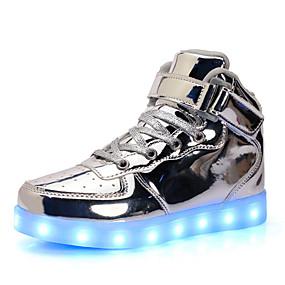 preiswerte LED Schuhe-Jungen / Mädchen Leuchtende LED-Schuhe Lackleder Sneakers Kleinkind (9m-4ys) / Kleine Kinder (4-7 Jahre) / Große Kinder (ab 7 Jahren) Schnürsenkel / LED Silber / Blau / Rosa Frühling / Gummi
