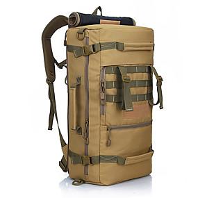 preiswerte Jagdtaschen-50 L Wanderrucksack Militärischer taktischer Rucksack Regendicht Verschleißfestigkeit Außen Militär Reise Oxford Camouflage Raue Schwarz Khaki / JA