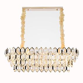 povoljno Stropna svjetla i ventilatori-QIHengZhaoMing Kristal Lusteri Ambient Light Electroplated Metal 110-120V / 220-240V Meleg fehér Bulb Included