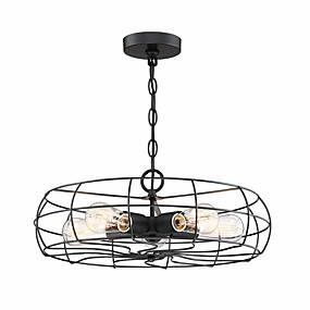 povoljno Lámpatestek-vintage loft kreativna metalna svjetla za privjesak 5 svjetla oslikana završna industrijska ventilatora luster