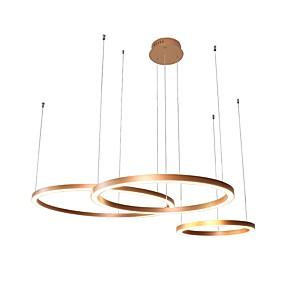povoljno Stropna svjetla i ventilatori-UMEI™ Cirkularno Lusteri Ambient Light Anodized Aluminij Acrylic Kreativan, Prilagodljiv, New Design 110-120V / 220-240V Meleg fehér / Bijela Uključen je LED izvor svjetlosti / FCC