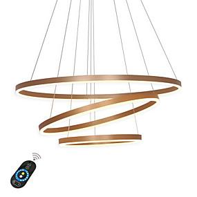 povoljno Lámpatestek-Ecolight™ Geometrijski Lusteri Ambient Light Metal Acrylic Prilagodljiv, Zatamnjen 110-120V / 220-240V Bijela / Zatamnjen daljinskim upravljačem / Wi-Fi Smart / FCC