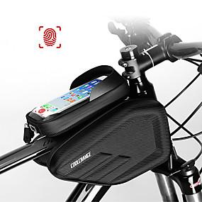 preiswerte Fahrradrahmentaschen-CoolChange Handy-Tasche Fahrradrahmentasche 6.0/6.2 Zoll Touchscreen Wasserdicht Doppelte IPouch Radsport für iPhone 7 iPhone 8 Plus / 7 Plus / 6S Plus / 6 Plus iPhone X Schwarz Geländerad