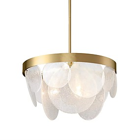 povoljno Lámpatestek-QIHengZhaoMing 6-Light Noviteti Lusteri Ambient Light Electroplated Metal Glass 110-120V / 220-240V Meleg fehér