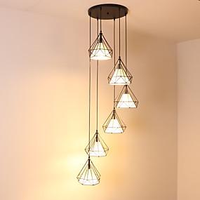 povoljno Viseća rasvjeta-6-Light Mini Privjesak Svjetla Ambient Light Slikano završi Metal Mini Style, Produžen, New Design 110-120V / 220-240V Bulb not included / FCC / E26 / E27